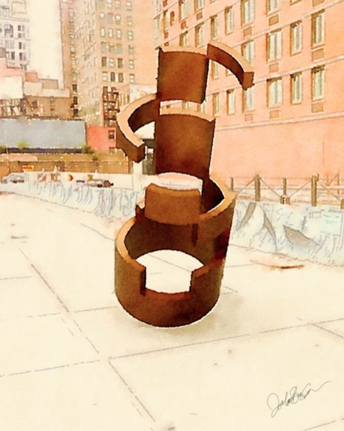 Hell's Kitchen Artist's Steel Sculpture Heading to New 9th Ave. Plaza